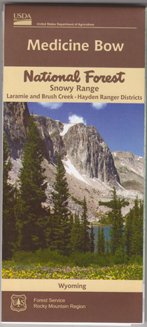 Medicine Bow National Forest Snowy Range Map